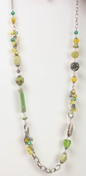 AW8188 Alpenwahn lange Halskette mit Schmuckelementen