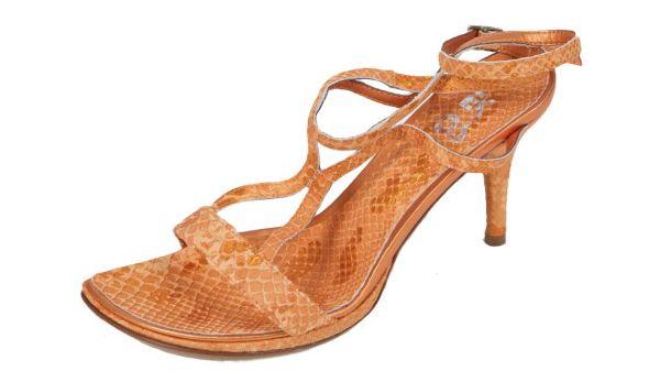 1922 Design Damen Sandalette Leder orange