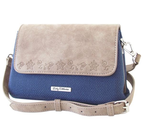 Lady Edelweiss Trachtentasche 15011 Canvas Blau
