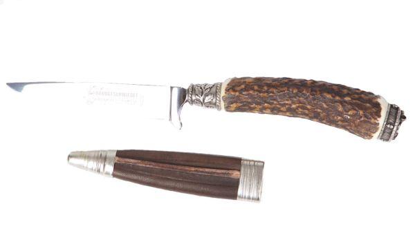 Trachtenmesser mit Hirschhorn und Eichel`n Beschlag