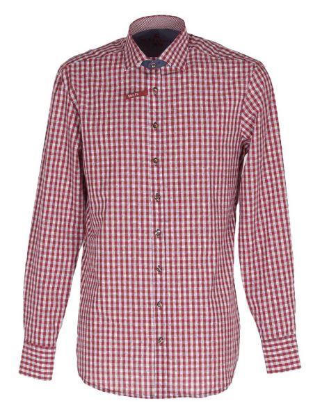 Orbis Herrenhemd 420000-3521/34 mittelrot Slim fit