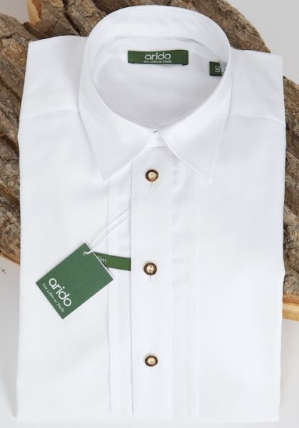 2794 2719 00 Arido Hemd weiß slim Gr 44 Trachtenhemd