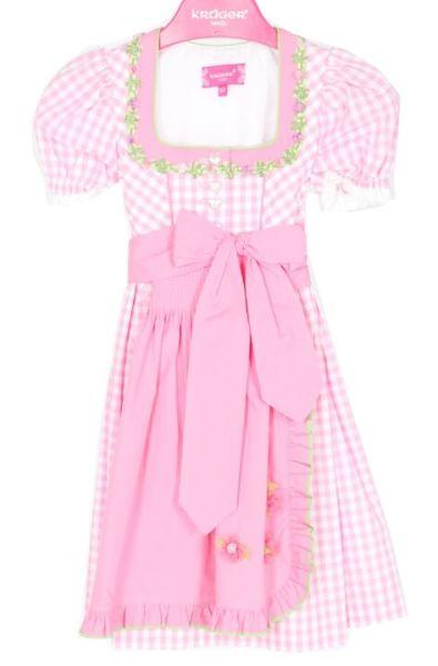 47041 Krüger Kinderdirndl pink mit Ärmel Gr 80