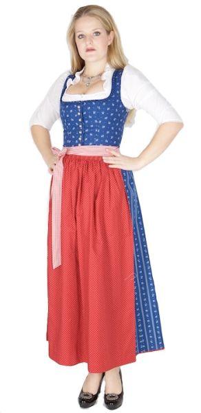 11583 Wenger Dirndl Emma 95er blau rot