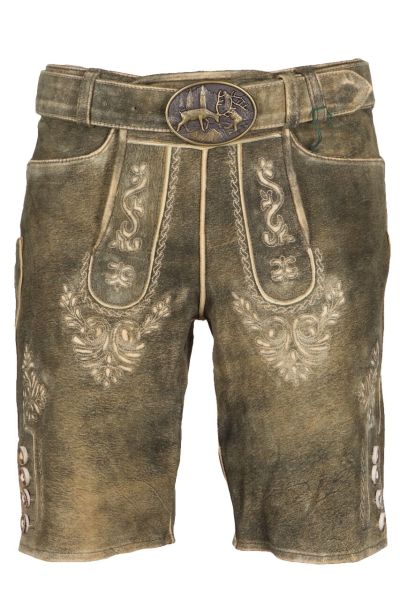 Kaiseralm Lederhose Mandi 1668Z antik braun FB 94