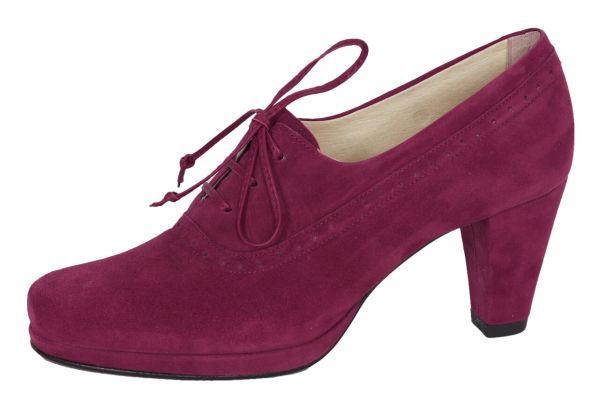 1986-2 Damen Trachtenpumps Samtziege burgund