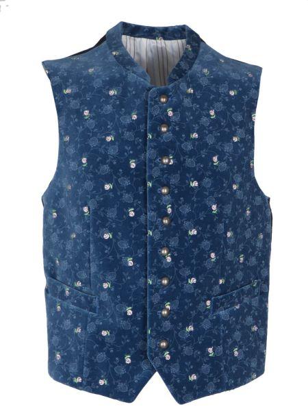 Grasegger Gilet 1422000 flori blau (047)