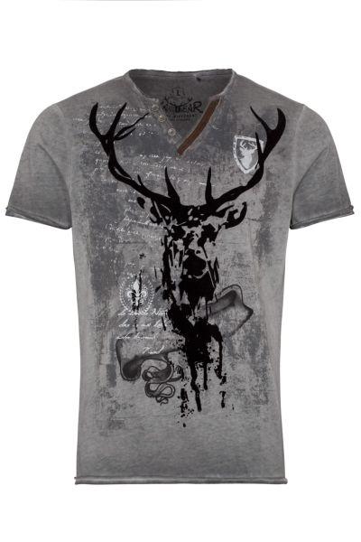 Hangowear Herren T-Shirt Elvis 1201 71073 Grau 0201