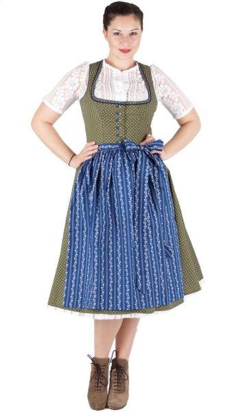 15460 Julia Trentini Dirndl Kathi 70er olivgrün denim