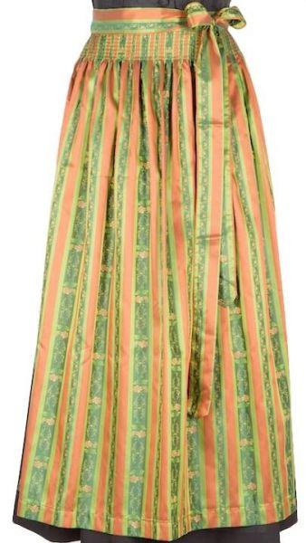 001 Dirndlschürze 95er länge orange grün