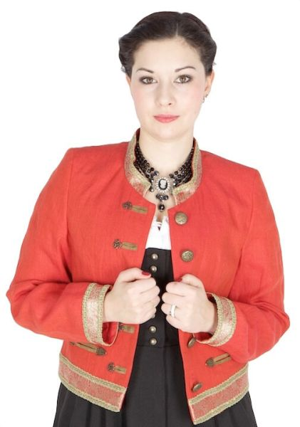 X-4932 Country Line Jacke Korallenrot gold