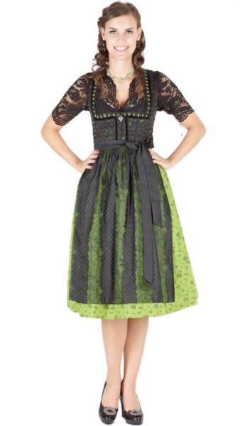 13015 Wenger Dirndl Pia 70er grün schwarz
