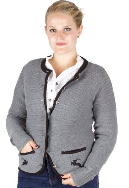 Alp Spur Damen Strickjacke Lucy grau schwarz