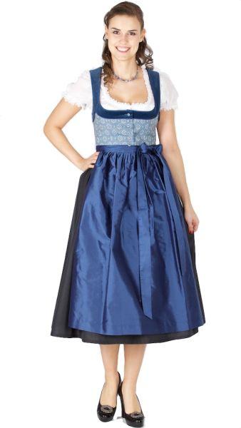 15411 Hofer Dirndl Fernhub 80er länge blau