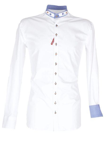 Orbis Herrenhemd 420008-2487/142 weiss blau Sim fit