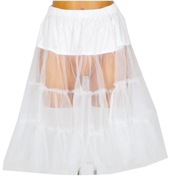 Wenger Premium Petticoat für Dirndl 60 cm weiss