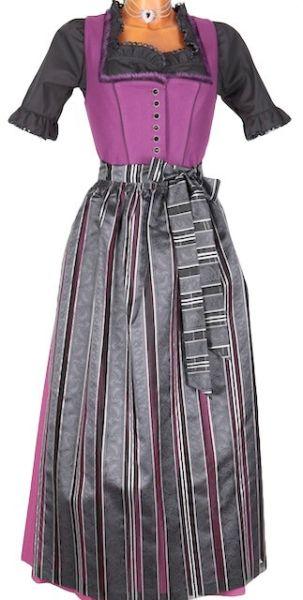 3784 Lodendirndl Wallersee schwarz purple 95er
