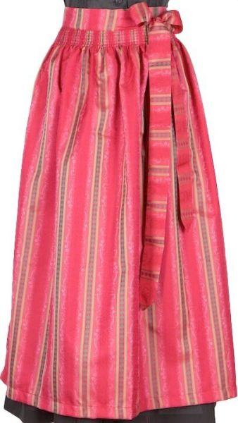 005 Dirndlschürze 95er länge pink gemustert