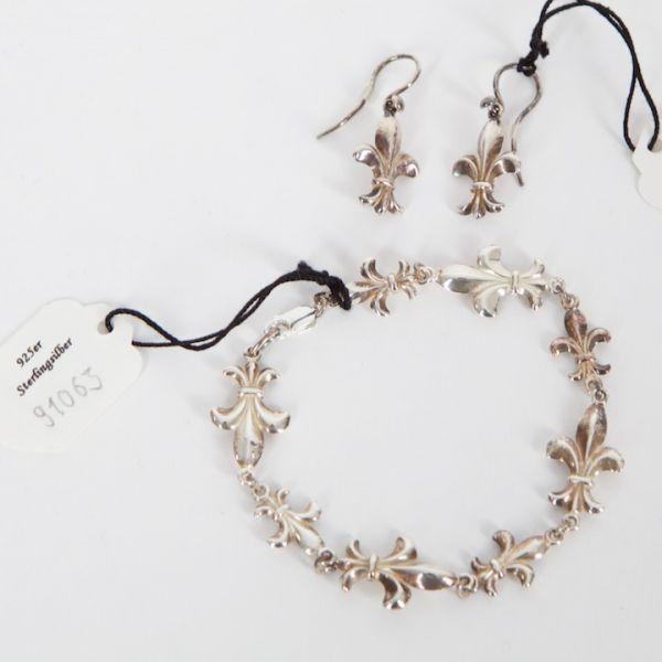 VH91063 Armband und Ohrringe 925er Sterlingsilber