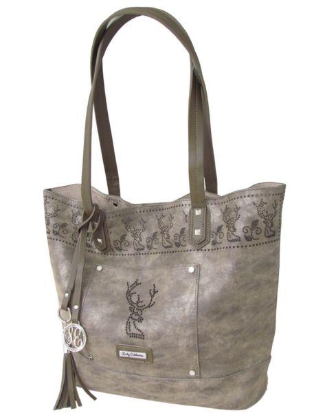 17010 Lady Edelweiss Trachten Shopper antik braun