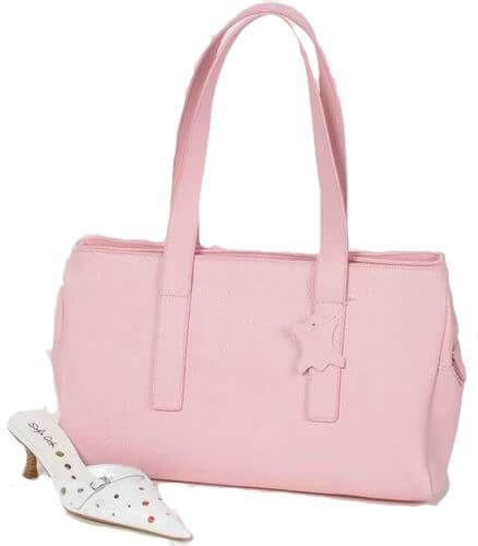 T385 Lederhandtasche rosa