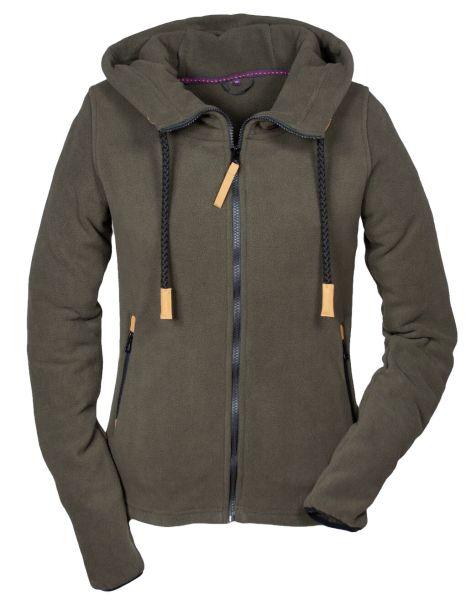 Hubertus Ladies Fashion Fleece Hoodie 10223203 Olivbraun Fb 328