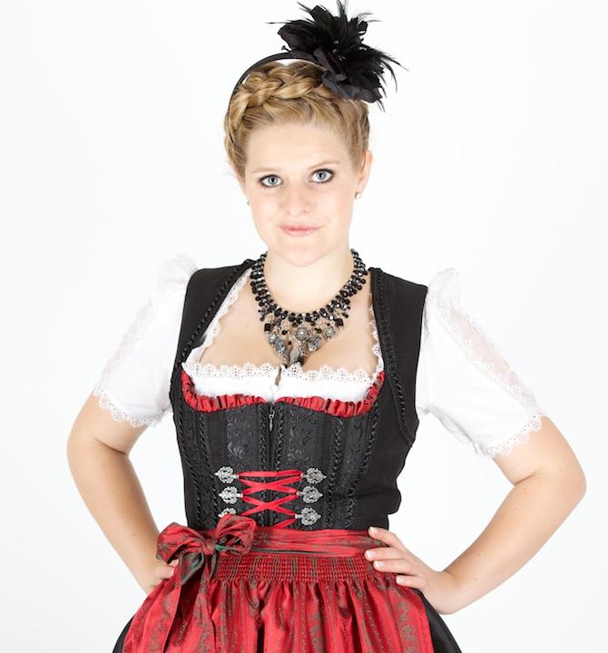 f36c390ead116 11170 Krüger Manufaktur 70er Dirndl schwarz rot
