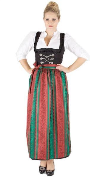 13224 Wenger Hochalm Dirndl Hildegard 95er Gr 38 schwarz rot grün