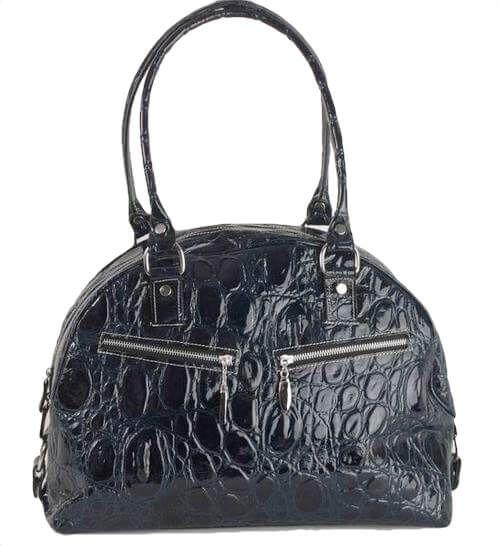 BE189 Lackleder Tasche dunkelblau