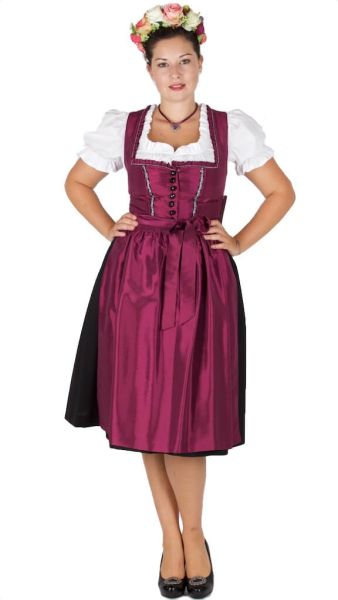 3379 Taft Dirndl purple 70er Turnersee
