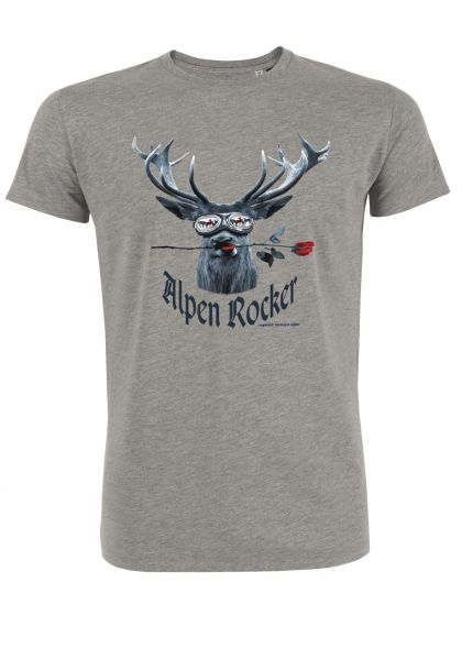 Mister Edelweiss Herren T-Shirt 21000 Alpenrocker Gr L Grau