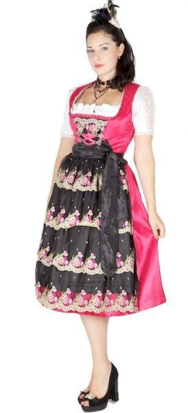 9073 Krüger 70er Dirndl pink schwarz