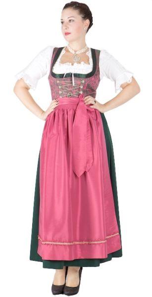 5544 Krüger feelings Dirndl grün pink 95er