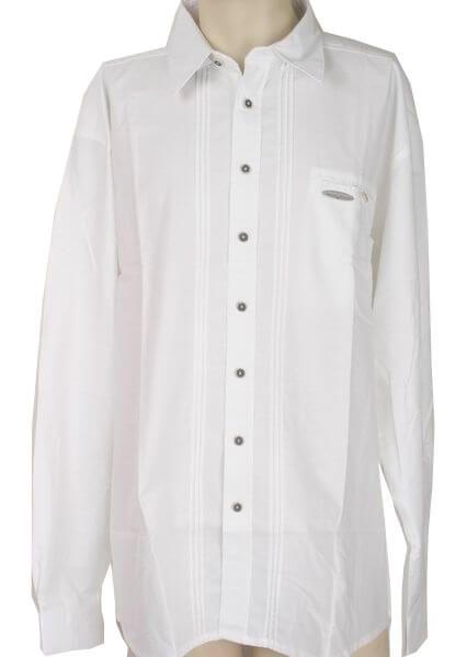 Erker Herren Trachtenhemd Gr 37/38 langarm Oxford weiss