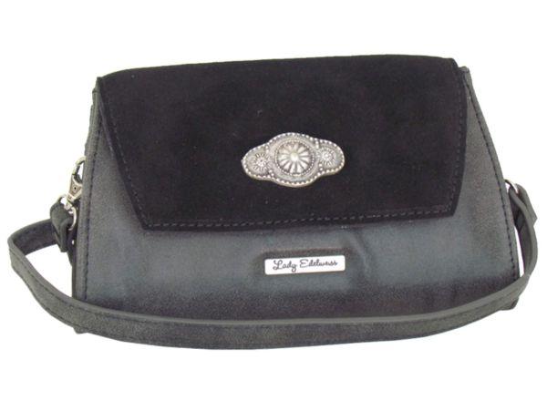 Lady Edelweiss Umhängetasche und Clutch 17501 schwarz