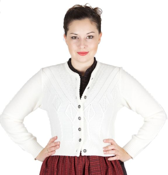 AS 214351 Alpenstrick Damenstrickjacke creme