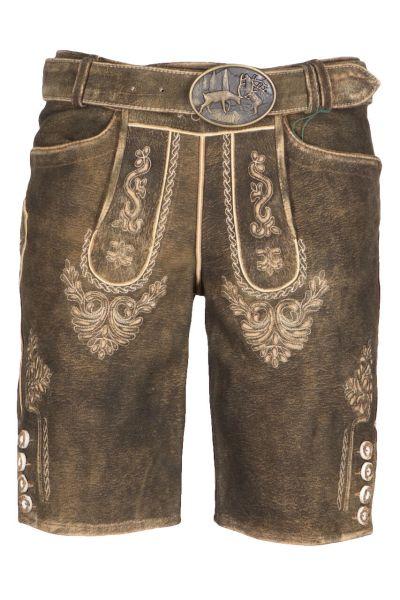 Kaiseralm Lederhose Mandi 1668Z antik braun FB 97