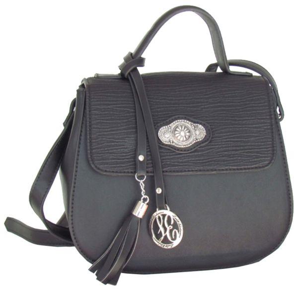 Lady Edelweiss Umhänge Trachtentasche 18100 schwarz