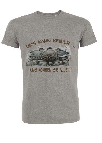 Mister Edelweiss Herren T-Shirt 21415 Uns kann keiner Gr L Grey