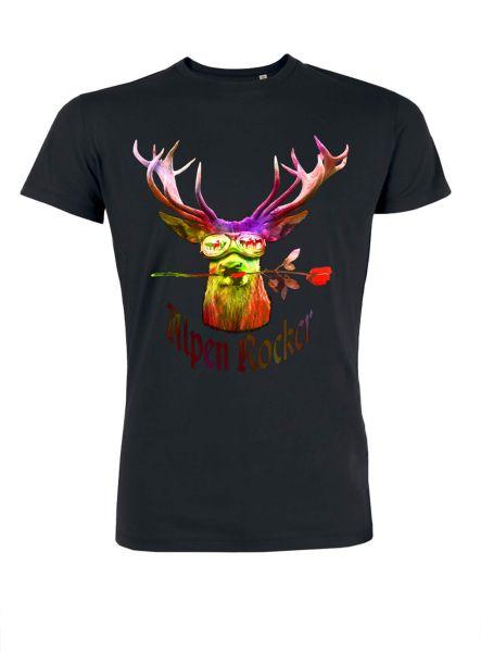Mister Edelweiss Herren T-Shirt 21006 PopArt Gr XL Schwarz