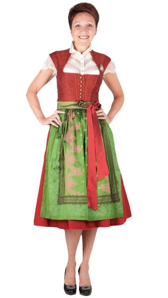 Sportalm Dirndl Altenhof 70er red
