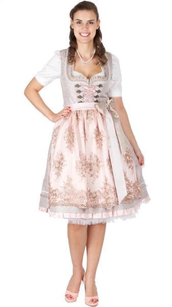 15430 Krüger Collection 60er Dirndl beige rose