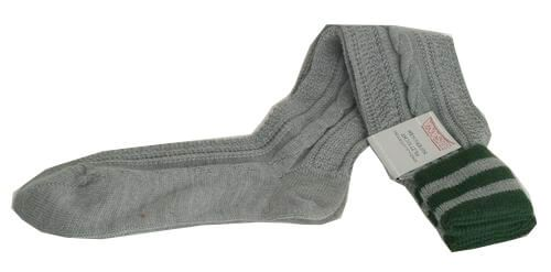 L8995R-0319 Trachten Kniebundstrümpfe grau tanne