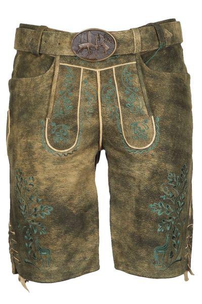 Kaiseralm Lederhose Tom 1668Z antik braun Fb 86