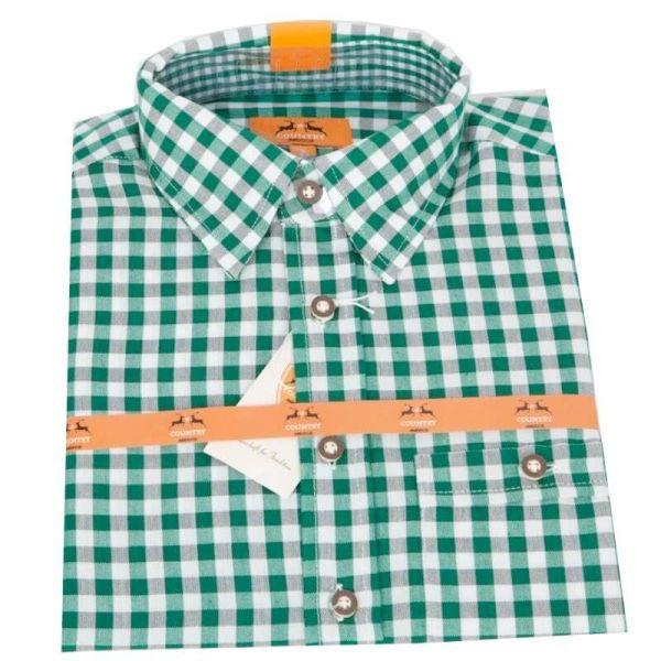 Country Maddox Kinderhemd Lukas K1 karo grün