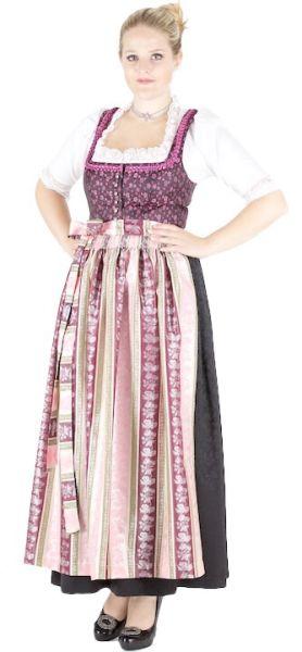 12866 Hofer Dirndl Kolbermoor 95er Gr 38 aubergine rosa