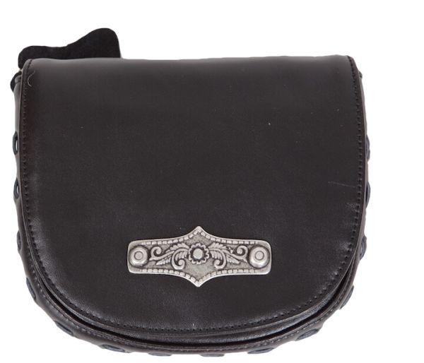 14798 Lady Edelweiss Trachtentasche mit Brosche schwarz