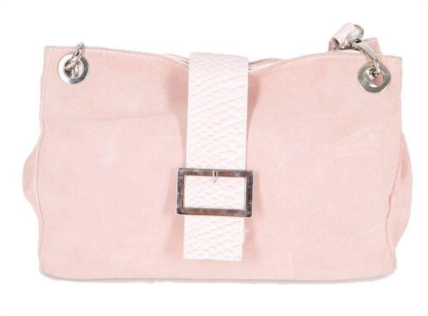 3935 Damen Lederhandtasche in rosa
