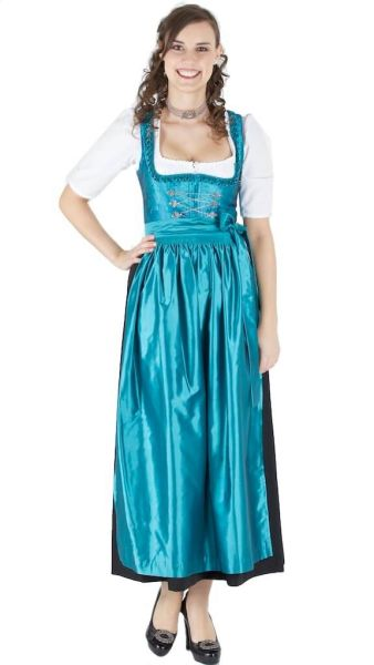 13528 Wenger Dirndl Hera 95er Gr 34 schwarz türkisblau