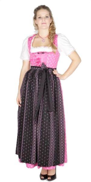 7202 Designer Krüger 95er Baumwolldirndl pink Streublumen